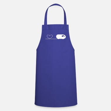 Pig Pooping Heart Guinea Pig - Cooking Apron