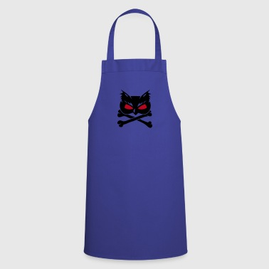 Owl Skull with crossbones - Cooking Apron