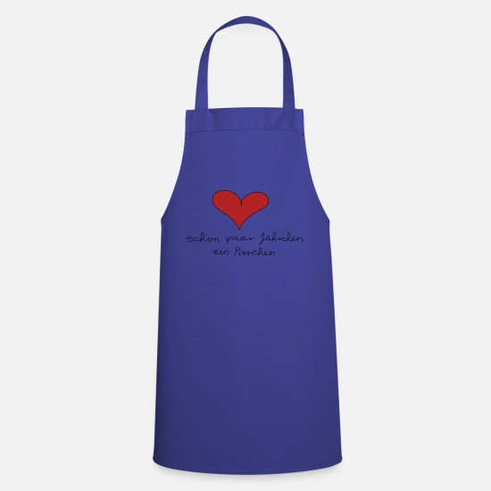 Love Aprons - Even couple of years a couple - Apron royal blue