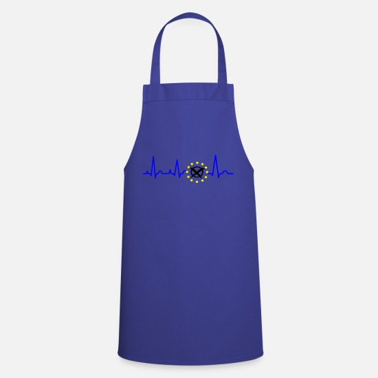 Eu Aprons - Pulse of Europe, Vote for Europe, Go Vote! - Apron royal blue