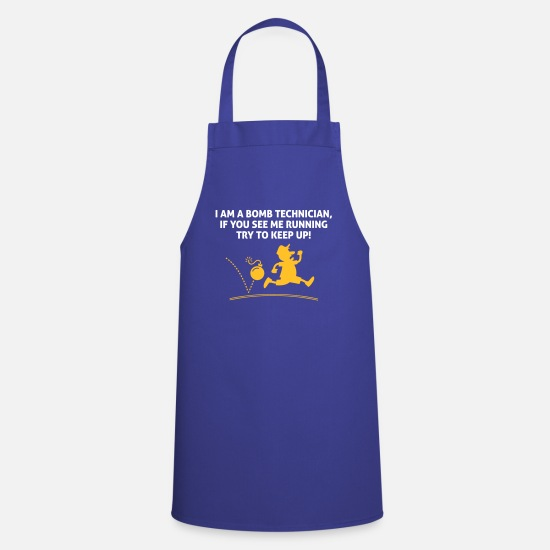 Assault Aprons - When A Bomb Squads Running, Follow Him! - Apron royal blue
