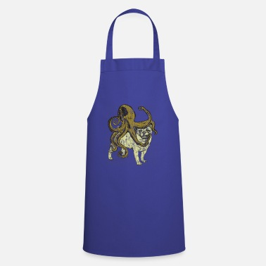 Chinese Pug Meets Octopus Used Look - Cooking Apron