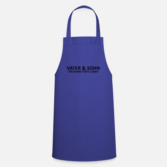 Parent Aprons - Father and son bond for life - Apron royal blue