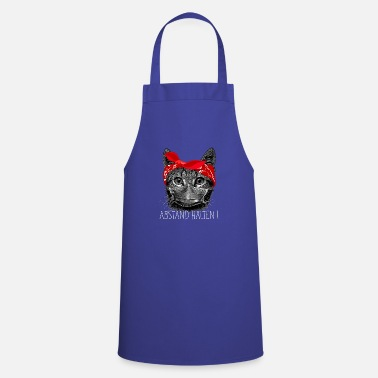 Cat Keep Your Distance Keep distance ! Cat cat with face mask - Apron