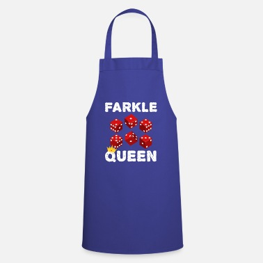 Name Farkle Queen Funny Dice Game Night graphic - Apron