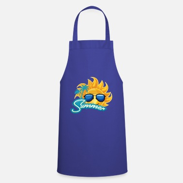 Sunglasses Summer sun sunglasses and palm trees - Apron