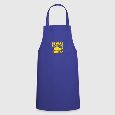 BEWARE EXPLOSIVE FARTS with a army tank - Cooking Apron