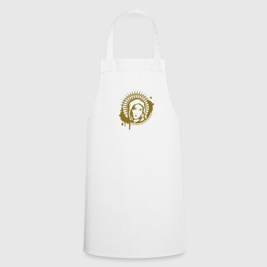 Virgin Mary Holy Mary portrait graffiti stencil - Cooking Apron