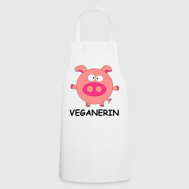 Schwein Veganerin Vegan Veggie German female - Keukenschort