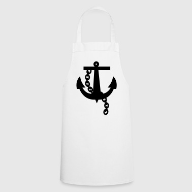 anchor navy simple black rockabilly design - Cooking Apron