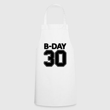 30th birthday number numbers jersey number - Cooking Apron