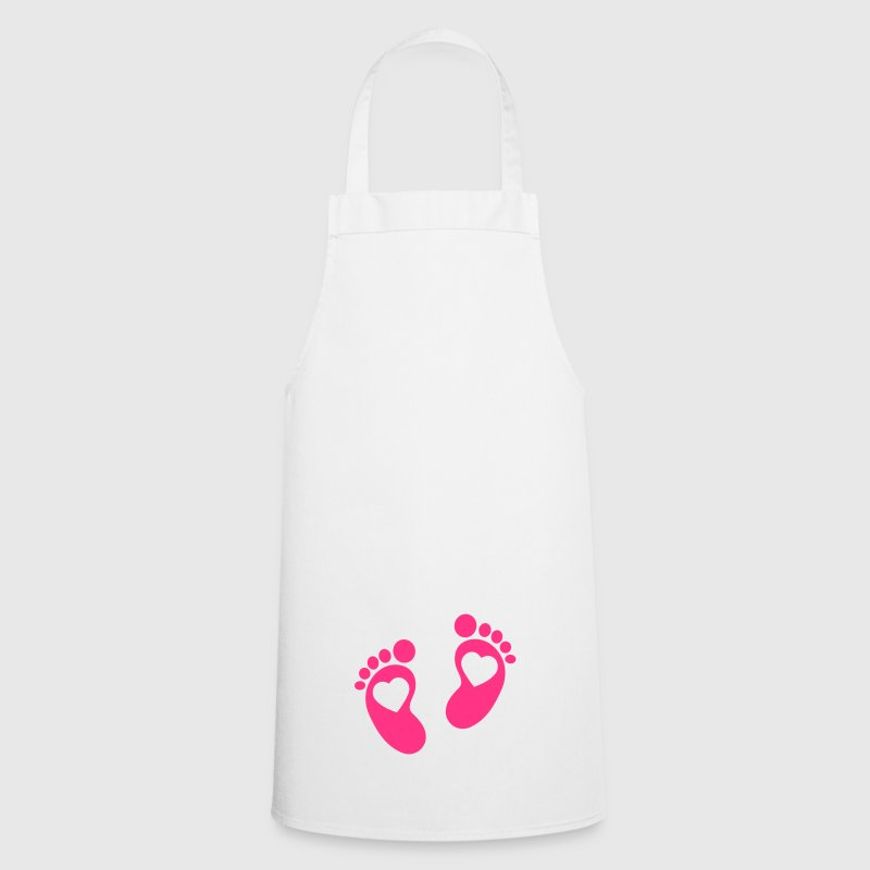 baby - feet - footprint - Cooking Apron
