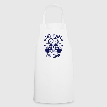 No pain gain quote bodybuilding muscle building - Cooking Apron