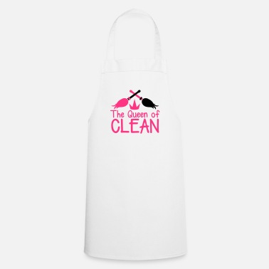 Cleaning The QUEEN of CLEAN mother hot pink with brooms - Cooking Apron