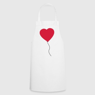 Love Heart Balloon - Delantal de cocina