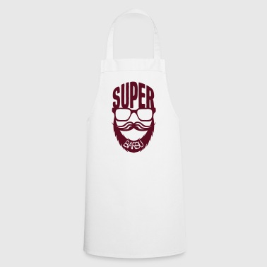 super barbu citation lunette barbe moust - Tablier de cuisine
