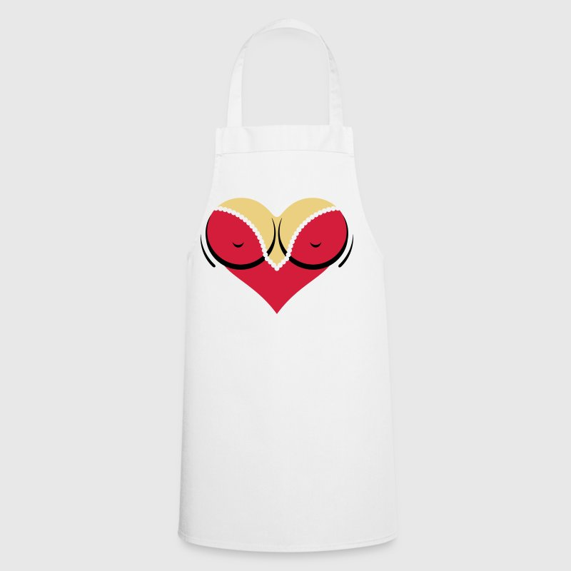 Heart-shaped woman s breasts with deep cleavage - Cooking Apron
