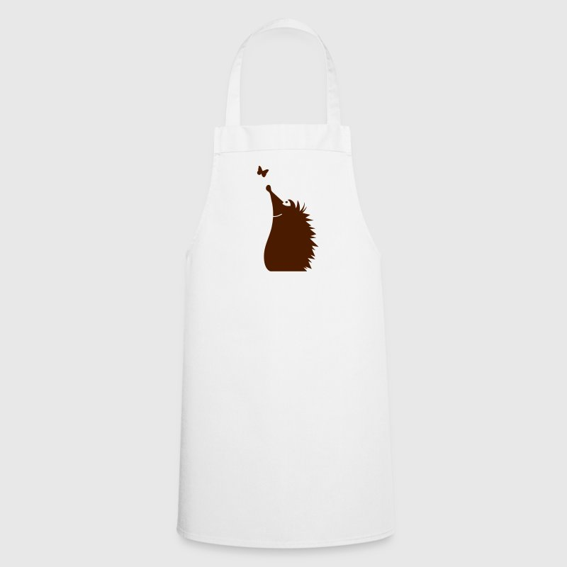 A hedgehog watching a butterfly - Cooking Apron