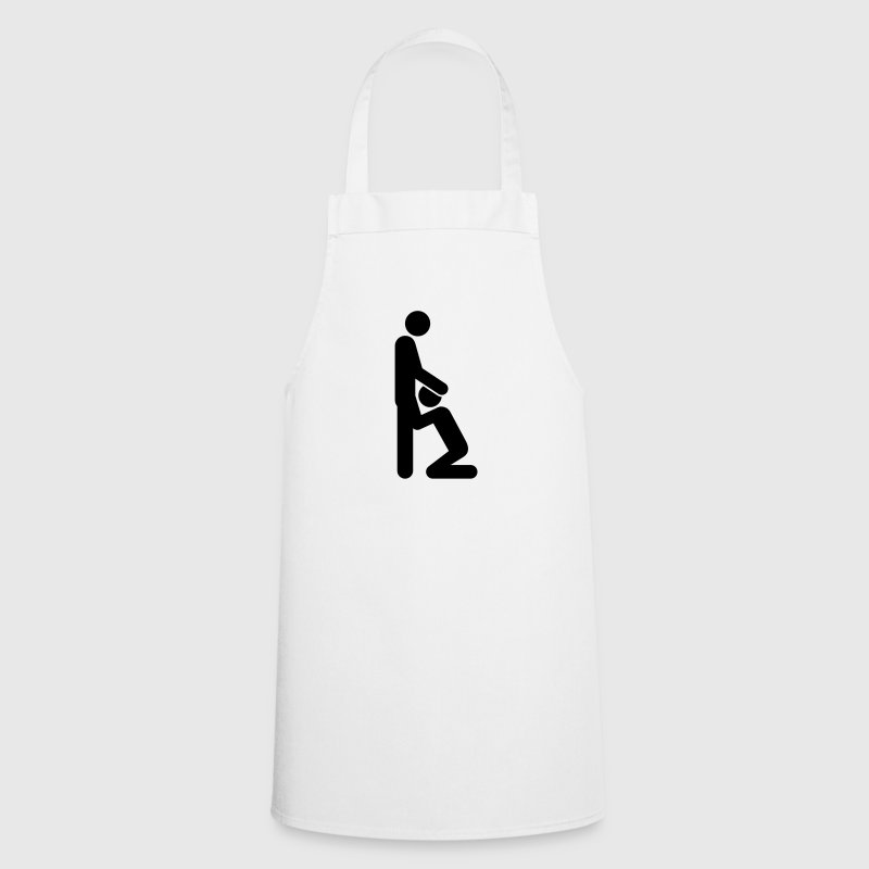 Woman gives man a blowjob - Cooking Apron