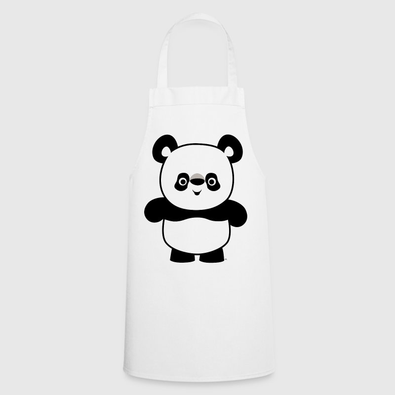 Cute Happy Cartoon Panda by Cheerful Madness!! - Cooking Apron