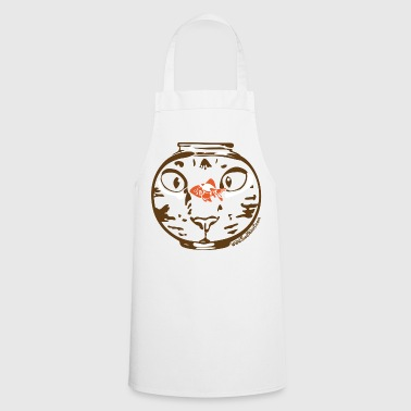 Hungry cat stare - Cooking Apron