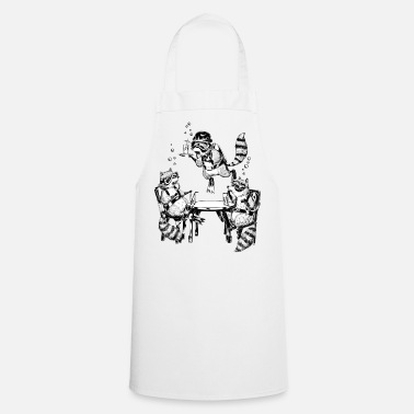 Retirement Racoon Underwater Gin Party - Cooking Apron