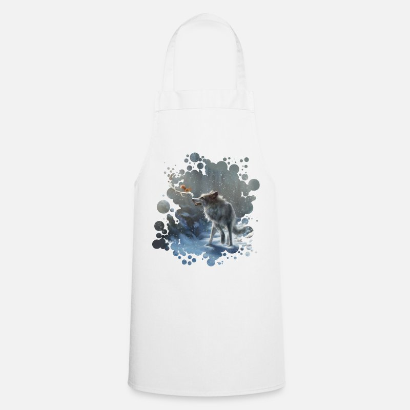 Nice Aprons - winter wolf - Apron white