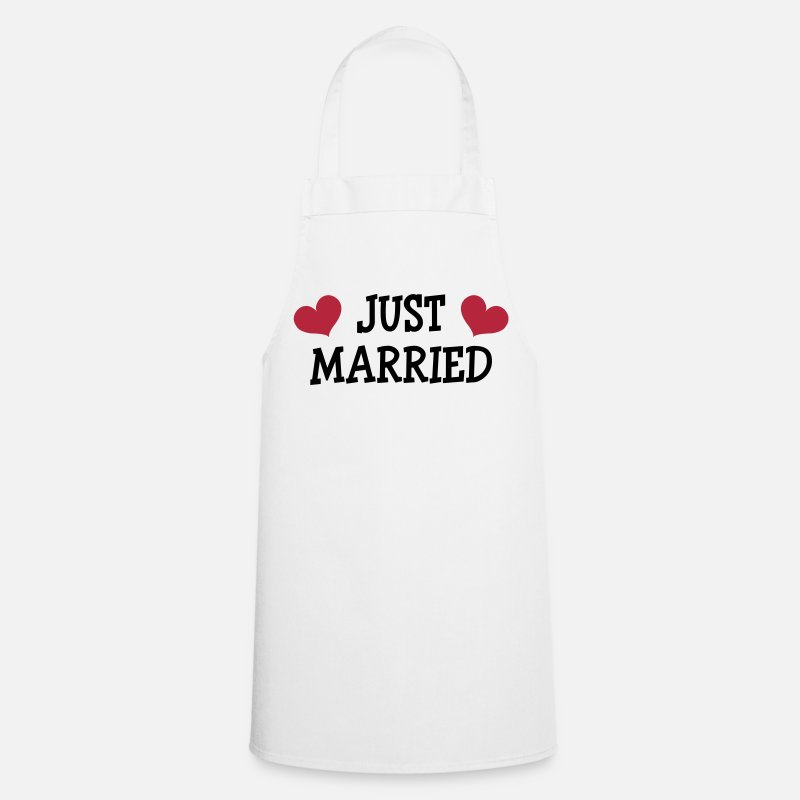 Homme Tabliers - Just Married - Wedding - Tablier blanc