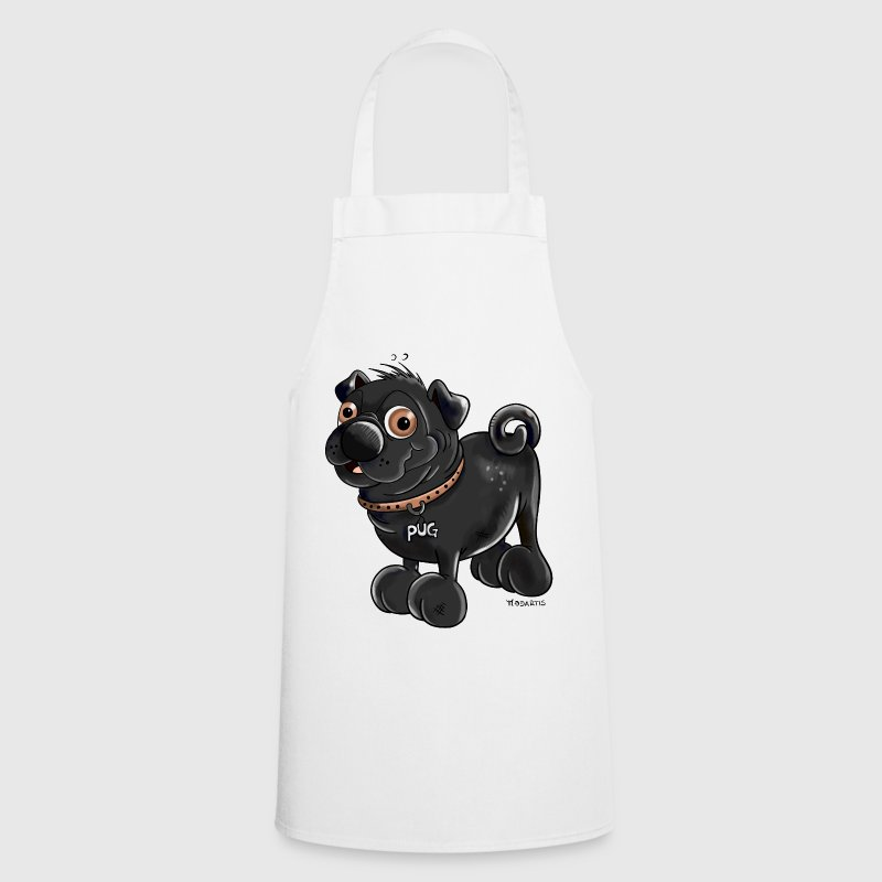 Funny Black Pug - Cooking Apron