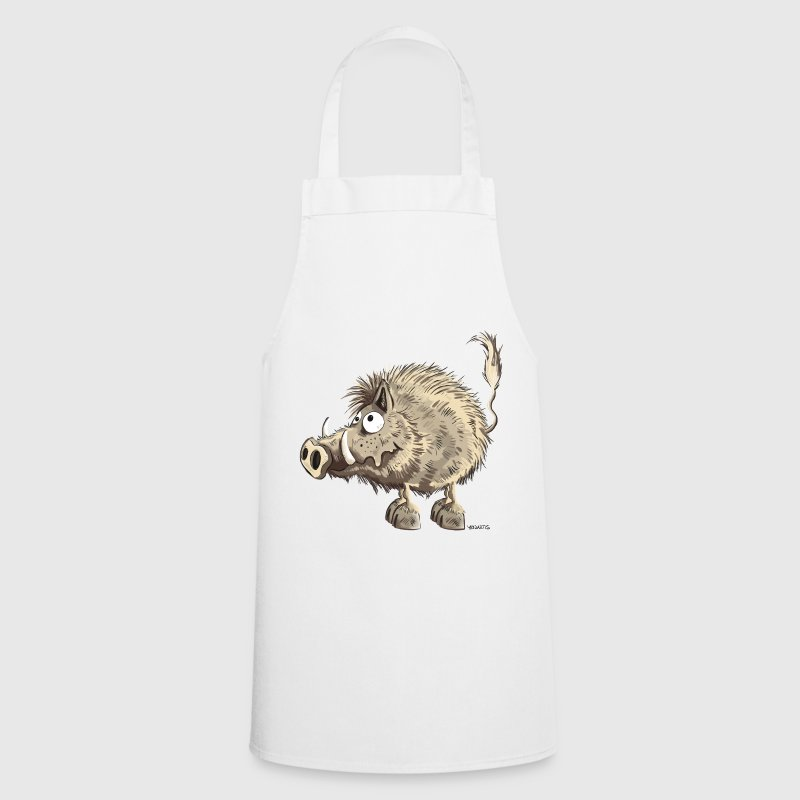 Funny wild boar  - Cooking Apron