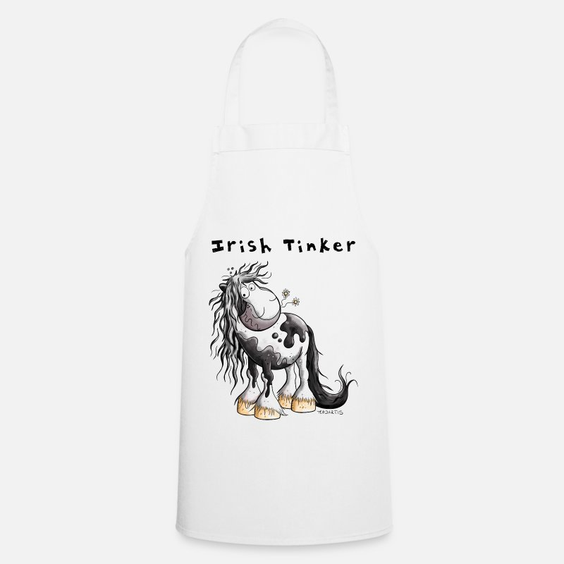 Funny Aprons - Cute Irish Tinker - Apron white