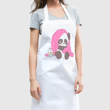 Cute Panda covered with blanket - Cooking Apron
