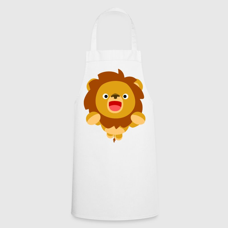 Hi! Cute Playful Cartoon Lion Cheerful Madness!! - Cooking Apron