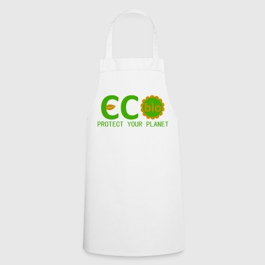 eco bio protect your planet - Cooking Apron