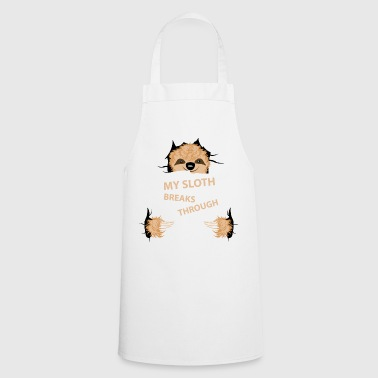 my sloth breaks trouth - Cooking Apron