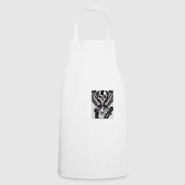 Bikes don't leak oil they mark territory skull - Cooking Apron