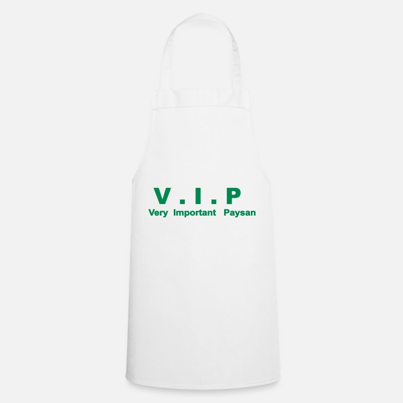 Agriculture Tabliers - VIP - Very Important Paysan - Tablier blanc