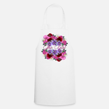 Flower Girl SWEET GIRL THE GIRL FLOWERS GIFT FOR GIRLS - Cooking Apron