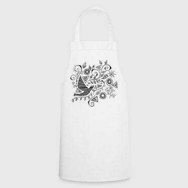 Flower bird set - Cooking Apron