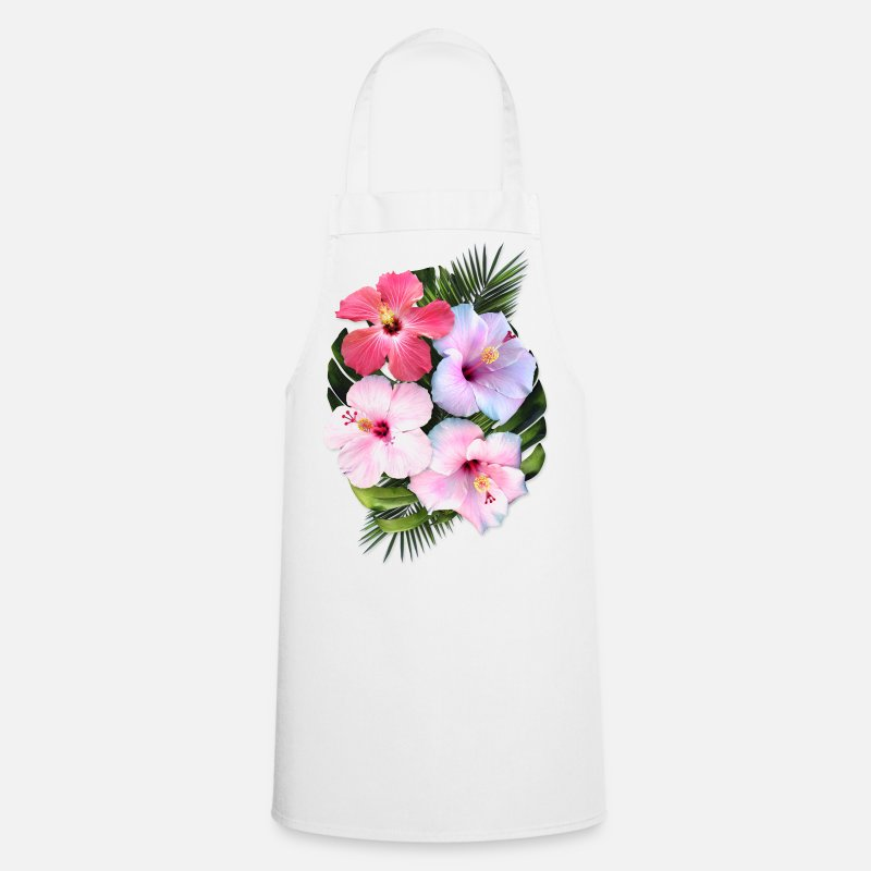 Beach Aprons - AD Flowers - Apron white