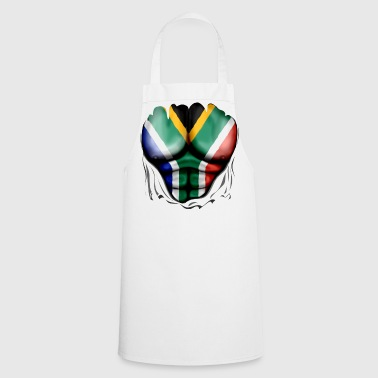 Africa South Africa Flag Ripped Muscles, six pack, chest t-shirt - Cooking Apron