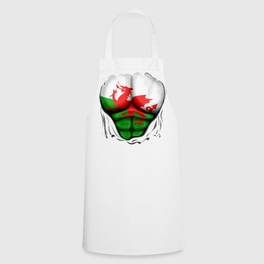 Wales Flag Ripped Muscles, six pack, chest t-shirt - Cooking Apron