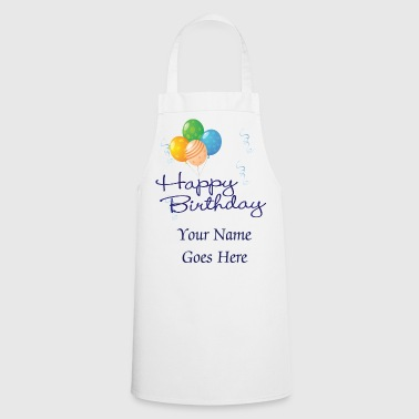 Happy Birthday with Balloons and streamers - Cooking Apron