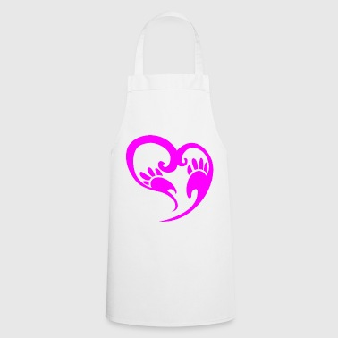 Heart with paws - Cooking Apron