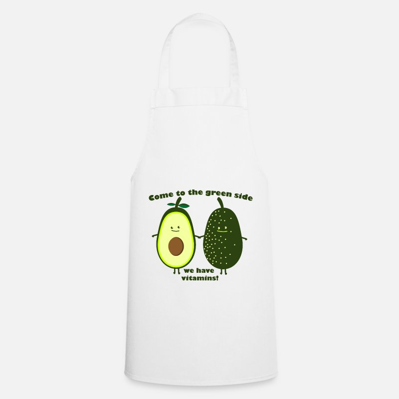 Food Aprons - to the grenn side - Apron white
