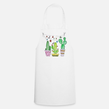 Cactus Cactus, cactus, cactus with garland - Cooking Apron