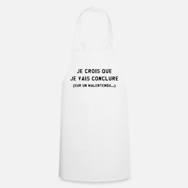 Draguer Conclure / Malentendu / Drague / Humour / Duss - Tablier de cuisine