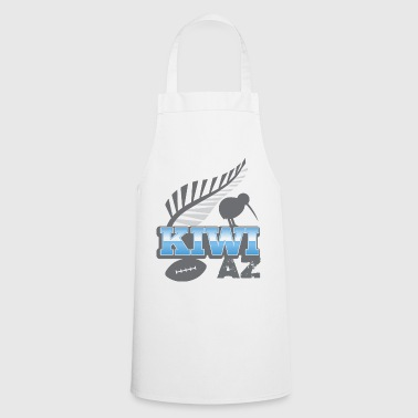 KIWI AZ New Zealand with a rugby ball and bird - Cooking Apron