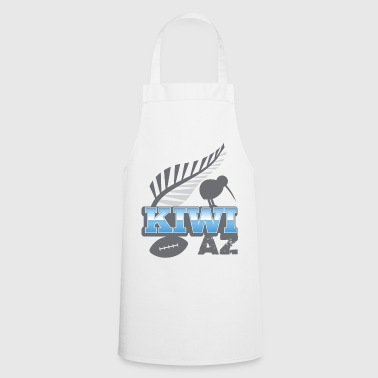 New Zealand KIWI AZ New Zealand with a rugby ball and bird - Cooking Apron