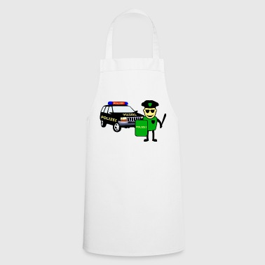 Police Officer & Police Car - Cooking Apron